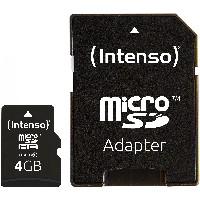 TF MicroSDHC 4GB Intenso C10 inkl.SD Adapter