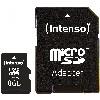 TF MicroSDHC 8GB Intenso C10 inkl.SD Adapter