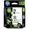 TIN HP # 21 +22 SD367AE 2-Pack black