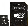 TF MicroSDHC 32GB Intenso C10 inkl.SD Adapter