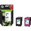 HP #301 Combo 2-Pack Black & Color (C/M/Y) N9J72AE