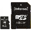 TF MicroSDHC 4GB Intenso C10 inkl.SD Adapter