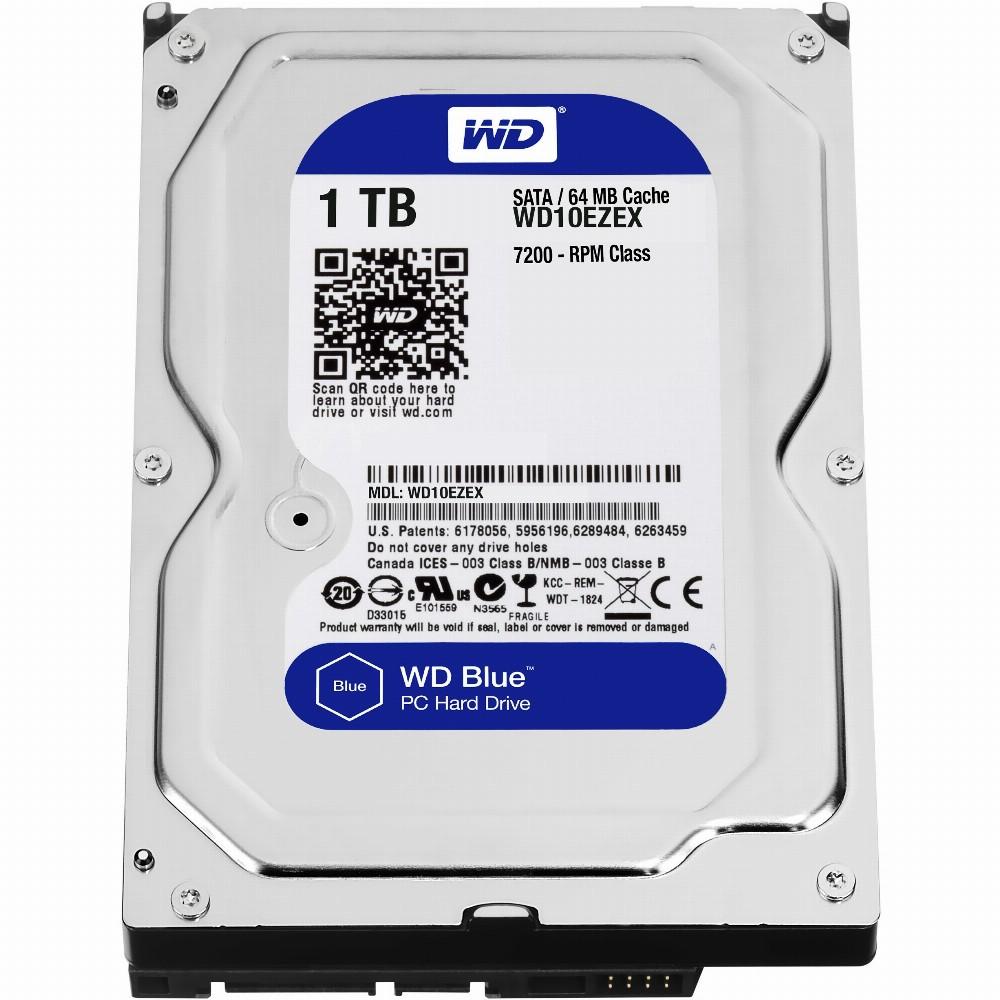 1TB WD WD10EZEX Blue 7200RPM 64MB