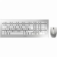 Cherry DW 8000 RF Wireless QWERTZ Deutsch Silber - white Tastatur
