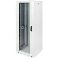 """Netzwerkschrank freistehend 19"""" 32HE Digitus 1560x600x600 mm, Farbe Grau (RAL 7035), mit Glasfronttür"""