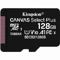 128GB Kingston Canvas Select Plus MicroSDXC 100MB/s +Adapter