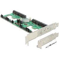 RAID mSATA PCIe 4x Delock 4x mSATA, Raid, HP/LP