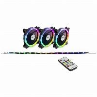 LED Lüfter Inter-Tech Argus RS-04 RGB (3x RGB 120mm Lüfter + 50cm LED Band)
