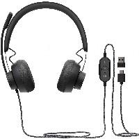 Headset Logitech Zone Wired MSFT Teams on Ear kangelgebunden USB-C Gray