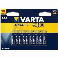 AAA VARTA LongLife Alkaline LR03 1.5V 10Pack