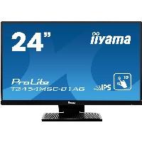 "24""/60,5cm (1920x1080) iiyama ProLite T2454MSC-B1AG 16:9 5ms Touchscreen VGA USB HDMI VESA Speaker Full HD Black"