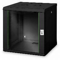 NWS 12HE Wandgehäuse, Unique 643x600x600 mm, Farbe Schwarz (RAL 9005) DIGITUS Professional