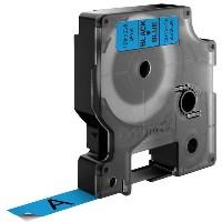 Dymo LabelWriter - D1 Etiketten Selbstklebend - 12 mm x 7 m - Schwarz auf Blau - (S0720560)