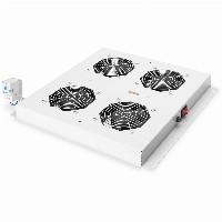 NWSZ Dachlüftereinheit Digitus für Unique Netzw. & Dyna. Basic 4 Lüfter, Schalter, Thermostat, 552 m³ zirk./h, Farbe Grau (RAL 7