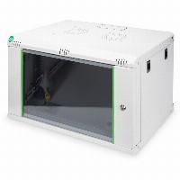 "NWS Wandschrank 19"" 7HE Digitus 416,15x600x450 mm, Farbe Grau (RAL 7035)"