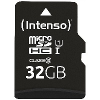 MicroSDHC 32GB Intenso UHS-I C10 45MB/s inkl. SD-Adapter