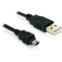 USB 2.0 A - B mini (Stecker - Stecker) 1,5m Delock