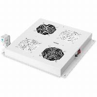 NWSZ Dachlüftereinheit Digitus für Unique Netzw. & Dyna. Basic 2 Lüfter, Schalter, Thermostat, 276 m³ zirk./h, Farbe Grau (RAL 7