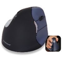 Evoluent Vertical Mouse 4 wireless black - silver