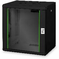 "NWS Wandschrank 19"" 12HE Digitus 643x600x450 mm, Farbe black (RAL 9005)"