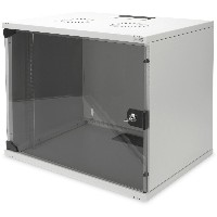 "NWS Wandschrank 19"" 9HE Digitus, SOHO, unmontiert 460x540x400 mm, Glastür, Farbe Grau (RAL 7035)"