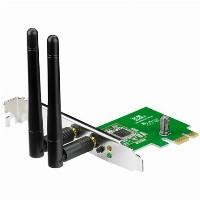 ASUS PCE-N15 Wireless LAN PCI-Express-Adapter 802.11 b/g/n mit 300 Mbit/s
