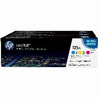 HP 125A Tri-pack - 3er-Pack - Gelb, Cyan, Magenta - Original - LaserJet - Tonerpatrone (CE259AM)