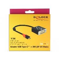 KAB USB C > Adapter DVI Buchse schwarz DP-Alt Mode Delock
