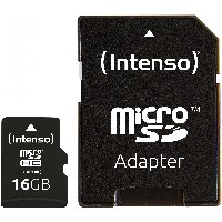 TF MicroSDHC 16GB Intenso C10 inkl.SD Adapter