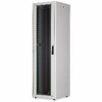 """Netzwerkschrank freistehend 19"""" 22HE Digitus 1125x600x600 mm, Farbe Grau (RAL 7035), mit Glasfronttür"""