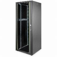 """Netzwerkschrank 19"""" 42HE Digitus 2053x800x800 mm, Farbe black (RAL 9005), mit Glasfronttür"""