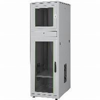 "Industrie PC-Schrank 19"" 36HE Digitus, IP 40 1780x600x800 mm, Glastüren, Farbe Grau (RAL 7035)"