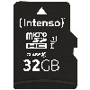 MicroSDHC 32GB Intenso UHS-I C10 45MB/s inkl. SD-A